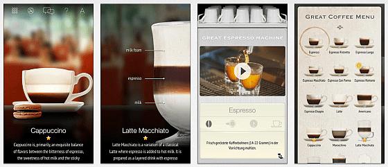 Mit der Great Coffee App macht das Ausprobieren der Zubereitung von Kaffee Spezialitäten Spaß.