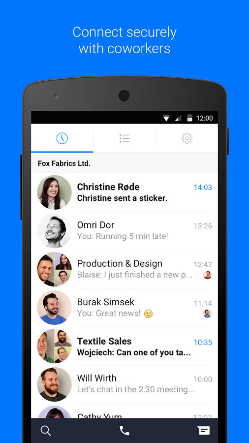 Chatting at work with Work Chat from Facebook - Download Apps and Games