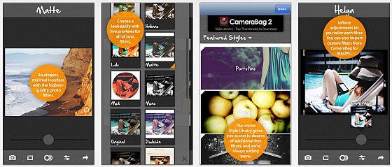 Mit Camerabag 2 kann man einfach den Bildern verschiedene Stile zuweisen. Die Bilder kann man dann speichern und teilen.