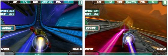 Das Spiel fesselt mit seiner Geschwindigkeit und der vollen Ausnutzung der Fähigkeiten von iPhone und iPod Touch