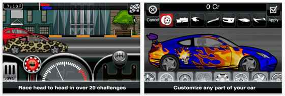 Screenshots App Drag Racer Pro