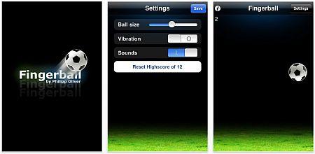 Screenshot der App Fingerball für iPhone und iPod Touch