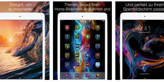 Die am Besten bewertete App für Hintergrundbilder heißt auch so: Hintergrundbilder für iOS 8