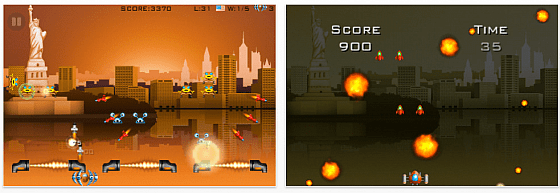 Screenshot iPhone Spiel Invaders World Tour