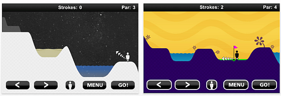 Screenshot iPhone App Stick Golf