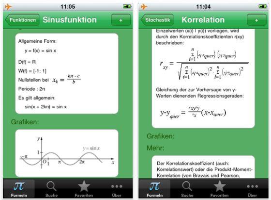 Screenshot Formulary Math