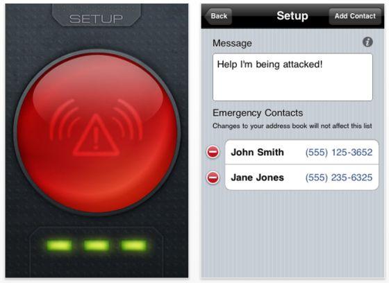 Screenshots Attack Alarm SMS