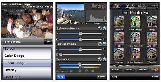 Iris Photo Suite Screenshot der iPhone App