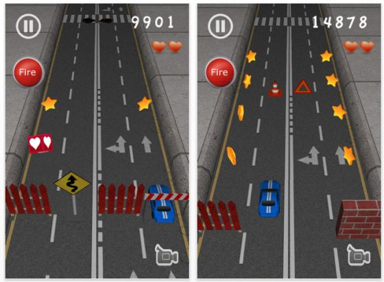 iPhone App Road Hog Screenshot