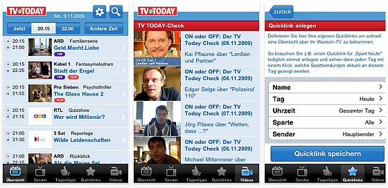 TV Today App Screenshot