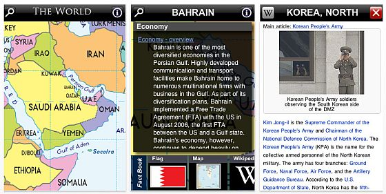 The World Country Factbook für iPhone und iPod Touch