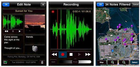 Screenshots von Moe's Notes für iPhonbe und iPod Touch
