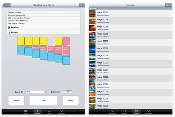 700 Solitaire Games Screenshot der iPad Version