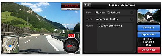 Cockpit Recorder iPhone-App