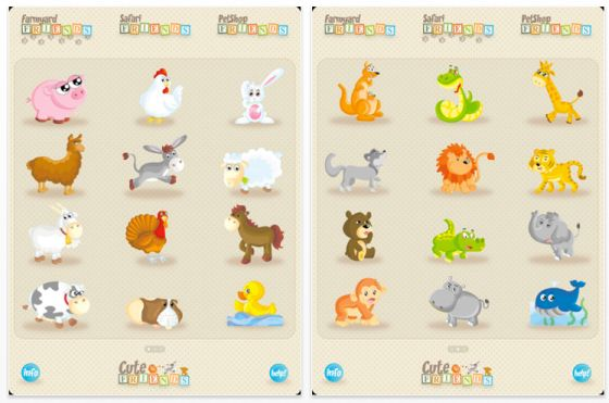 Cute Friends Universal-App für iPhone, iPod Touch und iPad Screenshots