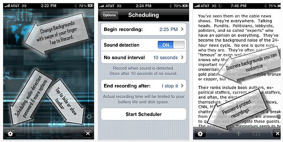 Top Secret Audio Recorder Screenshots