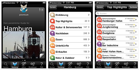 Tripwolf City-Guide Hamburg Screenshots
