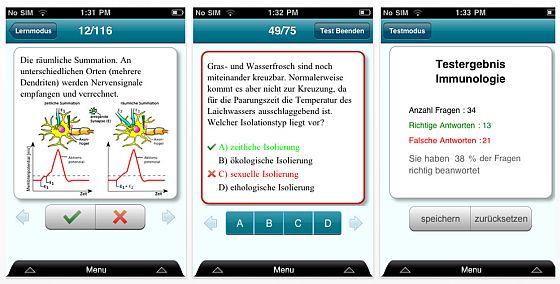 BioAbi Lernkarten und Test Screenshot