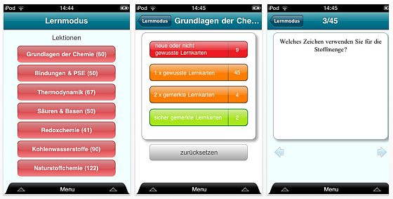Chemie Abi iPhone-App Screenshot