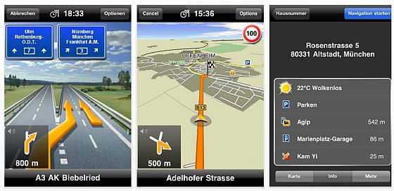 Navigon Mobil Navigator Europe Screenshot