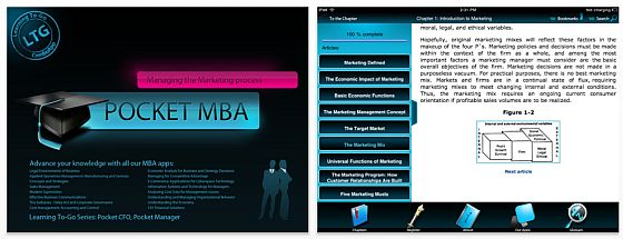 Pocket MBA Marketing Screenshot iPad-Edition