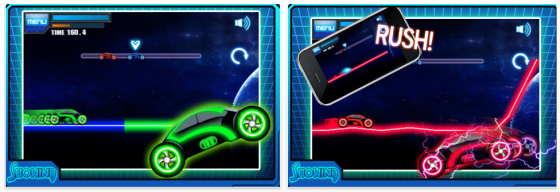Neon Knight iPhone game Screenshots
