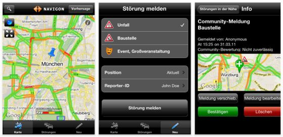 Navigon Traffic4all Screenshot