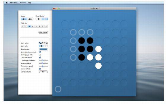 Reversi von Roadgames für den Mac - Screenshot