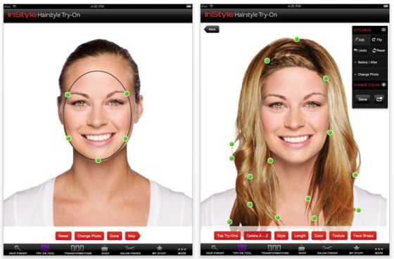 Instyle Hair try on für das iPad Screenshots
