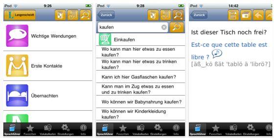 Langenscheidt talk and Travel Reiseführer für iPad, iPod und iPhone