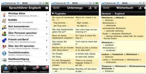 Lingolia Sprachführer Englisch für iPhone und iPod Touch - Screenshot