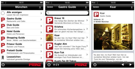 Prinz Top Guide für iPhone und iPod Touch