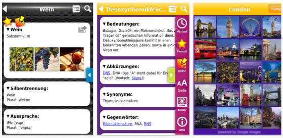 SmartDict Universal wörterbuch für das iPhone - deutsche Ausgabe - Screenshot