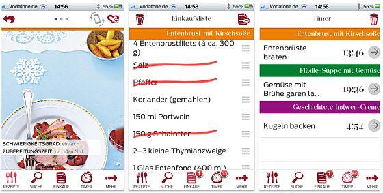 Für Sie Kochstudio für das iPhone