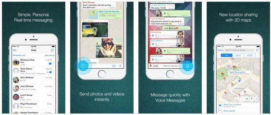Mit WhatsApp Messenger bleibt man ohne weitere Kosten in Verbindung. Die App verschickt über die Internetverbindung des Telefons Kurznachrichten, Bilder und Töne oder den aktuellen Standort und lässt sich so sehr vielfältig einsetzen. Wichtig: Um kommunizieren zu können, muss WhatsApp auch auf dem Telefon des Empfängers der Nachricht installiert sein.