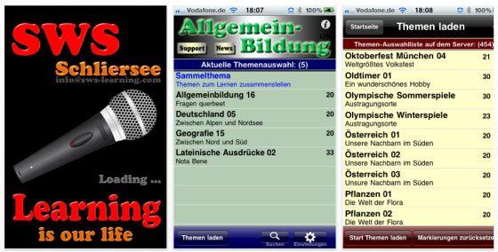 10000 Fragen zur Allgemeinbildung Wissenstraining iPhone-App Screenshots