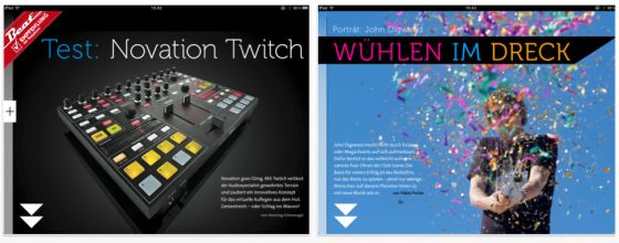 Beat Magazin HD Screenshot der IPad App