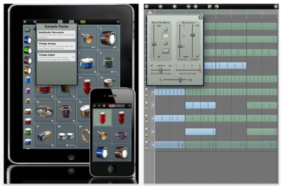 Beatstudio - Percussion-App für iPhone, iPod Touch und iPad