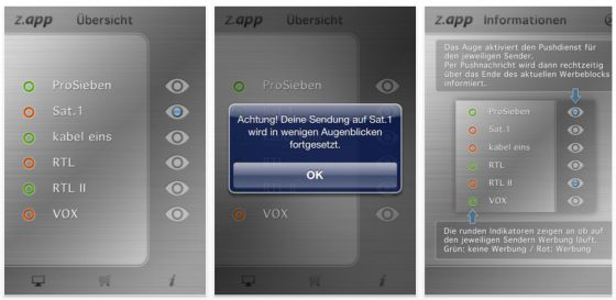 Z.app App für iPhone, iPod Touch und iPad - Screenshots
