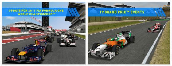 F1 2011 Game für iPhone und iPad Screenshots
