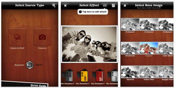B&W Lab Screenshots der Schwarzweiß-Bearbeitung für Fotos auf iPhone und iPad