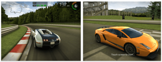 Sports Car Challenge für iPhone, iPod Touch und iPad - Screenshots