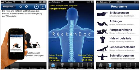 RückenDoc - Gesundheits-App für iPhone und iPad