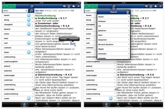 Wörterbuch Deutsche Rechtschreibung von Pons für iPad, iPhone und iPod Touch