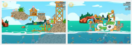 Angry Birds Seasons Screenshots der App für iPhone, iPod Touch und iPad