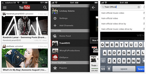 YouTube App für iPhone und iPod Touch