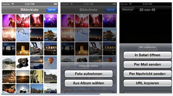 Bilderkiste App Screenshot
