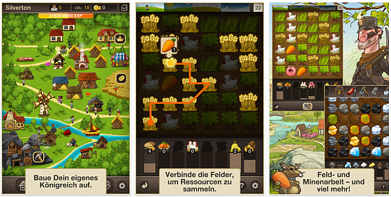 Puzzle Craft - Screenshot des Spiels von Chillingo für iPhone, iPod Touch und iPad