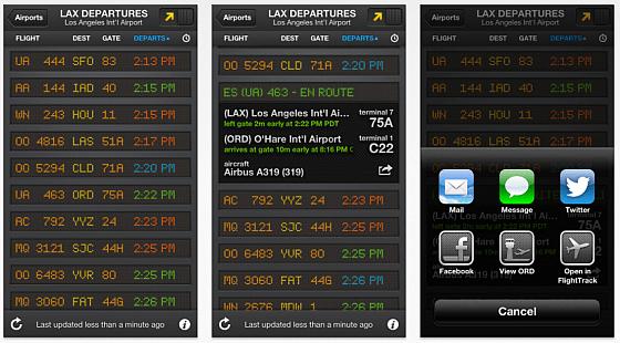Flightboard - Flugzeiten für iphone und iPad - Screenshots