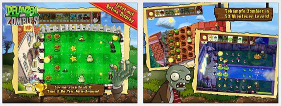 Pflanzen gegen Zombies HD Screenshots